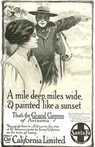 Atcheson, Topeka & Santa Fe Railroad Advertisement